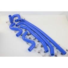 Патрубок печки Газель NEXT (компл.6шт) (силикон синий)