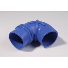 Патрубок ДМРВ Газель дв.405 (шланг воздухопр. угол от ДМРВ) силикон синий (пр-во Авто Престиж)